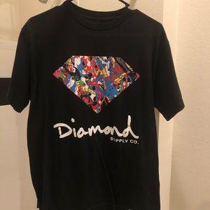 H&M's Diamond Short Sleeve T-Shirt Medium